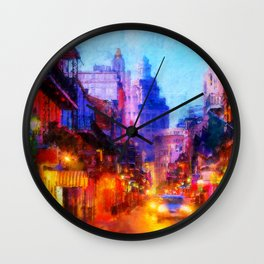 Streets of New Orleans Wall Clock