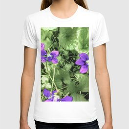 Wild Violets With Attitude T-shirt