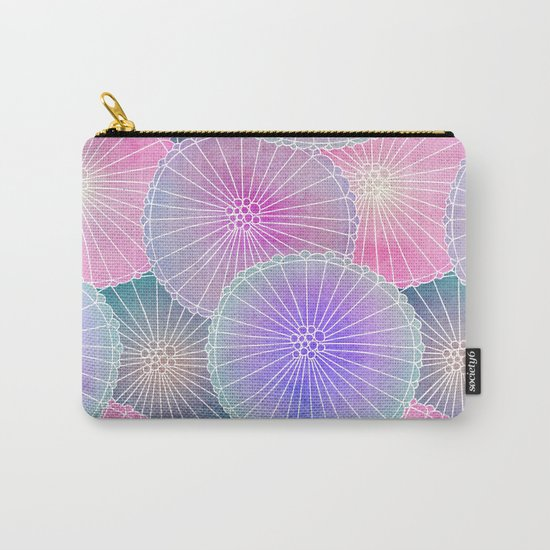 Floral Pattern 16 Carry-All Pouch