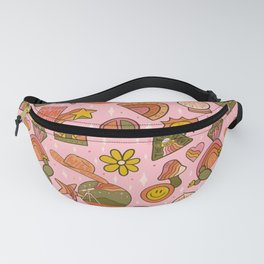 Fall Patch Print Fanny Pack