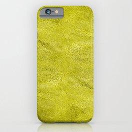 Neon Highlighter Yellow Metallic Foil iPhone Case
