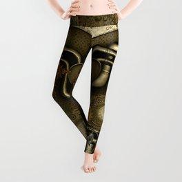 Wonderful noble steampunk design Leggings