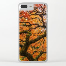 Japanese Maple Clear iPhone Case