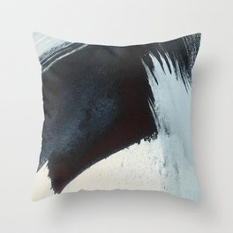 Like A Gentle Hurricane [2]: a minimal, abstract piece in blues and white by Alyssa Hamilton Art Throw Pillow