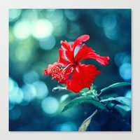 hibiscus Canvas Prints featuring Hibiscus by Arefin