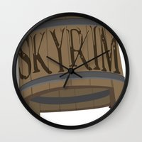 skyrim Wall Clocks featuring SKYRIM: BUCKET by MDRMDRMDR