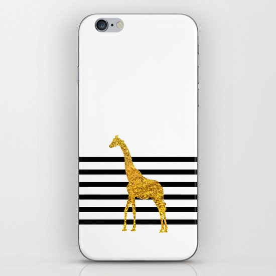 Gold Giraffe iPhone & iPod Skin
