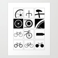 Bicycle Illustrations Art Print
