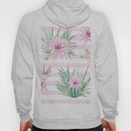 Simply Striped Cactus Desert Rose Pink Hoody