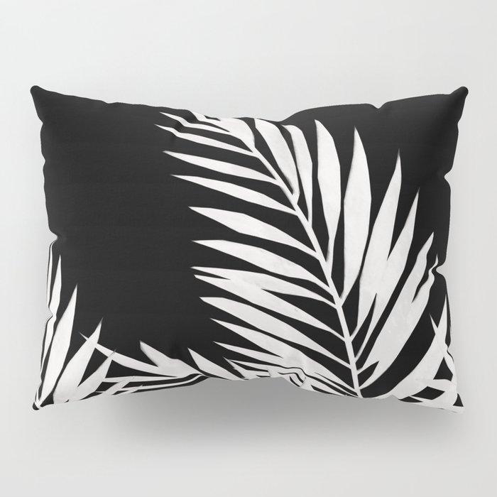 Palm Leaves White Pillow Sham