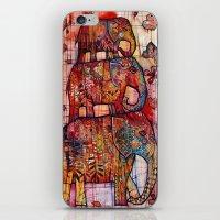 elephants iPhone & iPod Skins featuring Elephants by oxana zaika