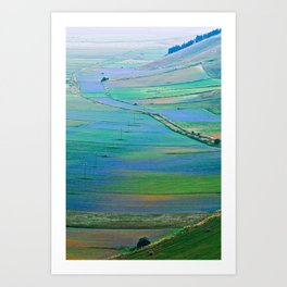 Plain of Castelluccio seen from above Art Print