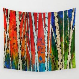 Birch Tree Stitch Wall Tapestry