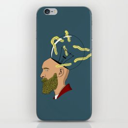 Hipster current iPhone Skin