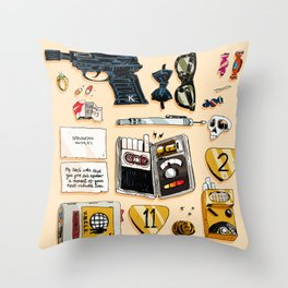 Open Channel D Throw Pillow