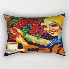 Vintage Brazil Coffee Ad Rectangular Pillow