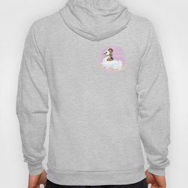 Summer Pool Party - White Swan Float A Hoody