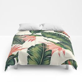 Palm Leaf & Flower Print Comforters