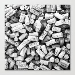 Something Nostalgic II Twist-off Wine Corks in Black And White #decor #society6 #buyart Canvas Print