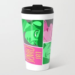 Las chinas rosa y gris Travel Mug
