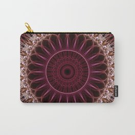 Ruby Mandala Carry-All Pouch