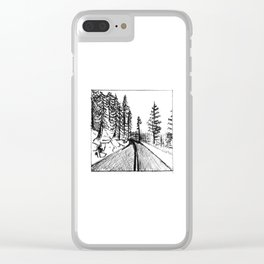 Glacier Point Road Clear iPhone Case