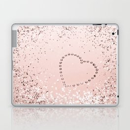 Sparkling ROSE GOLD Lady Glitter Heart #5 #decor #art #society6 Laptop & iPad Skin
