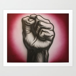 Revolution is now! Art Print