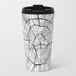 Moscow Map White Travel Mug