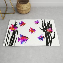 Red Fishes Rug