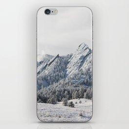 Frosty Flatirons iPhone Skin