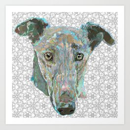 Sweetheart Hound Art Print