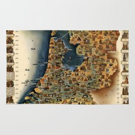 Map of Holland Rug