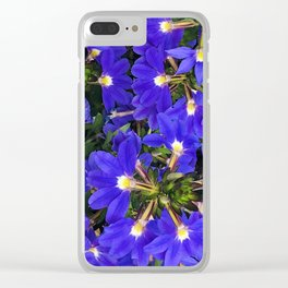 Blue-Purple Firecracker Explosion of Flowers Clear iPhone Case