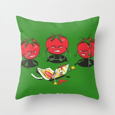 100% Tomate Natural Throw Pillow