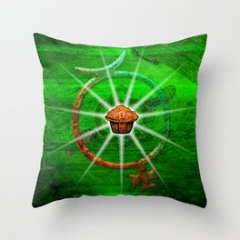 The Mighty Nuffin Muffin Throw Pillow