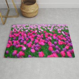 Tulips flowers Rug