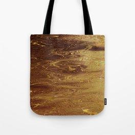 Gold Molten Liquid Fluid Metallic Tote Bag