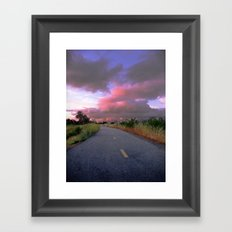 The Road to Nowhere Framed Art Print