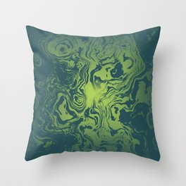oil spill Throw Pillow