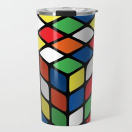 Illusion of the rubik's cube Travel Mug