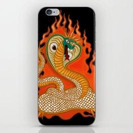 Striking Cobra with Flames iPhone Skin