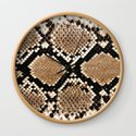 Pastel brown black white snakeskin animal pattern by pink_water