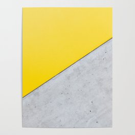 Yellow & Gray Abstract Background Poster