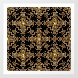 Beaded Baroque Art Print