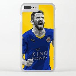 Riyad Mahrez - Leicester City Clear iPhone Case