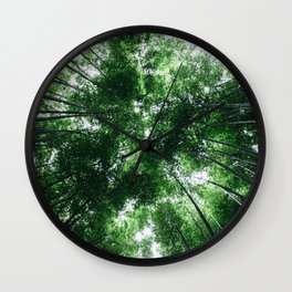 Bamboo Forest, Kyoto, Japan Wall Clock
