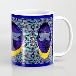 Mystical Midnight- Blue Moon  Gossamer Dragonfly Art  Coffee Mug