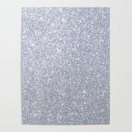 Silver Metallic Sparkly Glitter Poster
