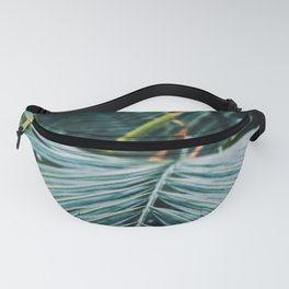 Palm leaves in a cold place Fanny Pack